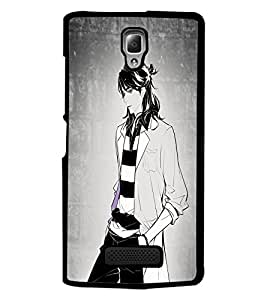 PrintDhaba Stylish Boy D-4925 Back Case Cover for LENOVO A2010 (Multi-Coloured)