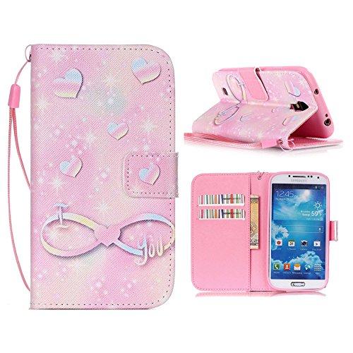 Linvei Samsung Galaxy S4 Mini Cuir Coque Portefeuille Case in Style Book Avec beau modèle -Housse Etui Pour Samsung Galaxy S4 Mini C-9