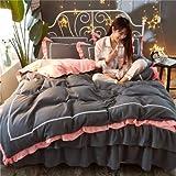 WHICH Umbrella three Bettwäsche Set,mako Satin bettwäsche 135 x 200-D-Bettbezug von 200 x 230 cm und Blatt von 150 x 200 cm und 2 Kissenbezüge von 48 x 74 cm