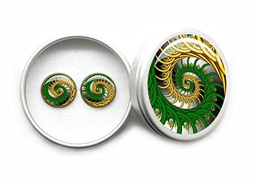 Handgefertigt Schmuck Oval Gotisch Schwarz Krähe Ohrstecker Ohrringe Vintage Stil