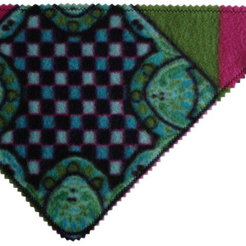 Stylisches Halstuch – für den coolen Hund im Winter (bunt grün) - 2