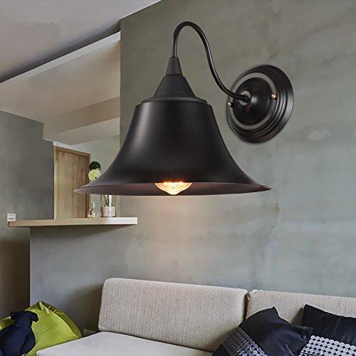 Balcone in ferro battuto d'epoca bar lampada da parete di passaggio Studio letto ferroviario tappo (Acciaio Per Scale Ferroviaria)