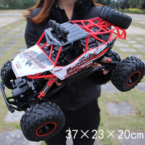 Pinjeer Coche RC 1/12 4WD Rock Crawlers 4x4 Driving Car Motores Dobles Drive Big Foot Coche Control Remoto Modelo de Coche Off-Road Vehículo Juguete Educativo para Niños de 4 años de Edad