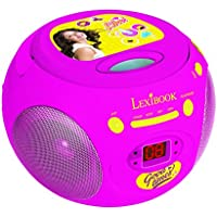 Soy Luna - Reproductor Radio CD Portátil, Color Rosa (Lexibook RCD102SL)