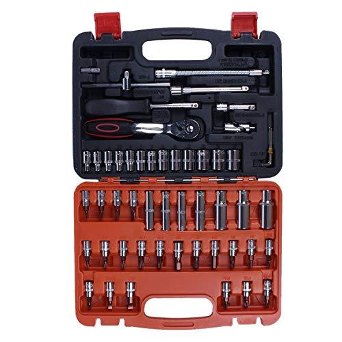 Semoic Outils de Reparation pour la Voiture et Le Moto Outils de Reparation Mecanique Kit de Reparation a Domicile 53 Piece