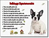 Französische Bulldogge Eigentumsrechte - Witziges Schild aus Aluminium (07) (20x30 cm)