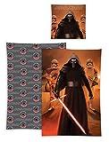 Star Wars VII Wende-Bettwäsche Kylo Ren aus Baumwolle; Größe: 80x80cm/135x200cm