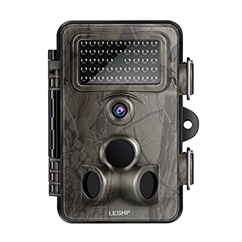 Game Camera, LESHP Trail Camera 12MP 1080P HD With Time
