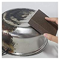 Caxmtu 3Pcs Magic Carborundum Brush Sanging Sponge for Pot Teapot Kettle Descaling Clean Large Area Flexible