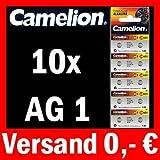 10 x AG1 LR60 KNOPFZELLE 164 364 GP64A SR621W CAMELION