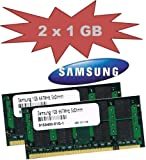 Mihatsch&Diewald Samsung 2048Mb 2x 1Gb SoDimm 667 Mhz Pc-5300 Speicher Memory 200pin DDR2 Notebook Laptop 1024Mb Ram auch passend für Apple MacBook Pro 3,1 4,1 2007 / 2008 Mac mini 2,1 iMac 7,1 5,1 6,1 3,1 Late 2007 2008