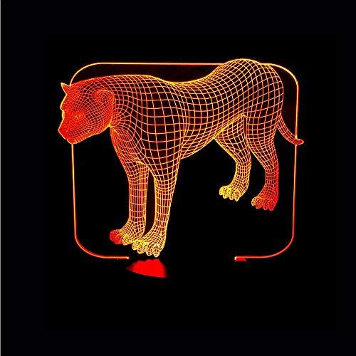 Dwthh 7 Colores Cambiantes De Acrílico Leopardos 3D Luz De La Noche Led Dormitorio Luz De La Noche Usb Mesa Luminosa Bebé Dormir Iluminación Decoración Niños Regalo