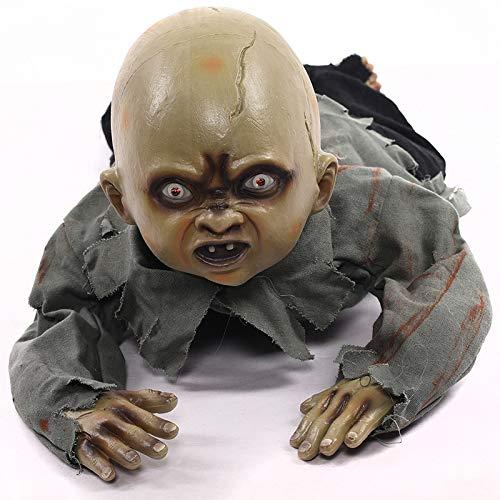 Haunted Doll Bewegender Körper, Gruselige Friedhofs Heulen, Elektronisches Krabbel Licht Sensored, Skelett Blutig Heimgesucht, Batteriebetrieben, 80 * 35 cm