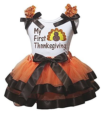 Turquie Dress Outfit - petitebelle My First Thanksgiving Turquie Blanc pour
