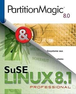 SuSE Linux 8.1 Professional plus PartitionMagic 8.0, CD-ROMs Betriebssystem plus Partitionierungs-Software
