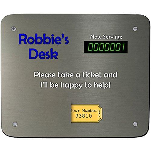 Stavros's bureau pour prendre un Ticket mâle Design personnalisé-Tapis de souris-Motif Premium Lot Épaisseur de 5 mm