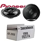 Lautsprecher Boxen Pioneer TS-G1730F - 16cm 3-Wege Koax Paar PKW 300WATT Koaxiallautsprecher Auto Einbausatz - Einbauset für Ford Fiesta MK7 Front Heck - JUST SOUND best choice for caraudio