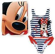 Bañador Minnie Mouse para niñas + Toalla Minnie Mouse de Microfibra para Playa o Piscina