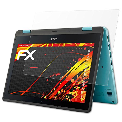 atFolix Schutzfolie kompatibel mit Acer Spin 1 SP111-31 11,6 inch Bildschirmschutzfolie, HD-Entspiegelung FX Folie (2X)