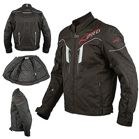 Textile Blouson Moto Protections CE Respirant Réfléchissant Noir
