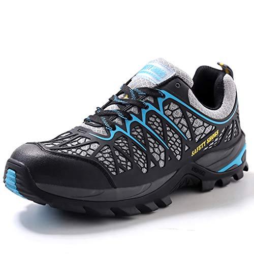 YXWa Ingenieurstiefel Leder Sicherheit Wasserdichte Stiefel Stahlkappe Arbeitsschuhe Knöchel Leder Sportbekleidung für Männer (Farbe : A, größe : 41)