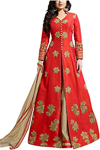 Sai creation Women's Printed Banglori silk Lehenga (gowns_bollywood_party wear_gown_indo western)