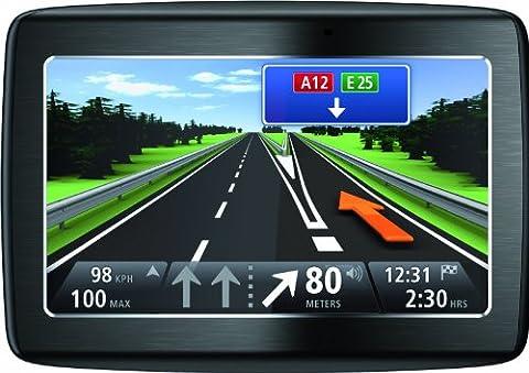 TomTom Via 120 Central Europe Traffic Navigationssystem (11 cm (4,3 Zoll) Display, TMC, Bluetooth, Sprachsteuerung, Parkassistent, IQ Routes, Europa (Navi Sprachsteuerung)