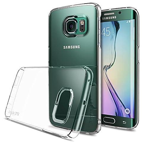 Galaxy S6 Edge Coque - Ringke SLIM ***HAUT ET EN BAS DE COUVERTURE*** [CRYSTAL][Protecteur D'écran Gratuit] Fluid Bord Incurvé Touch Design Super Slim Léger Tout Autour de la Protection Crystal Clear Étui Housse pour Samsung Galaxy S6 Edge - Eco Paquete