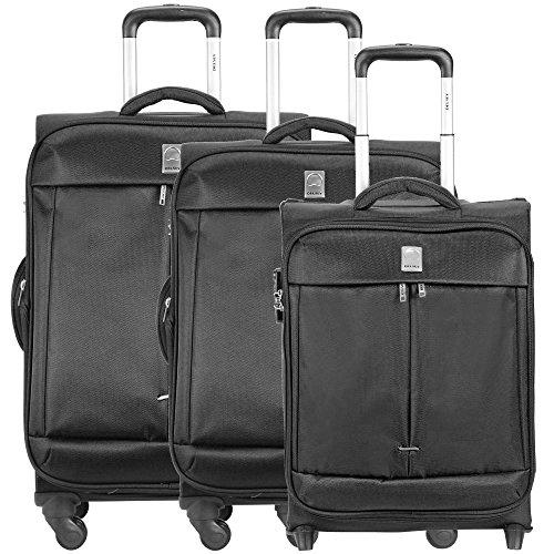 Delsey Flight valigia 2/4 ruote (set di 3) nero