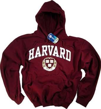 Harvard University-Felpa con cappuccio da legge Clothing-Maglietta a maniche corte rosso Large