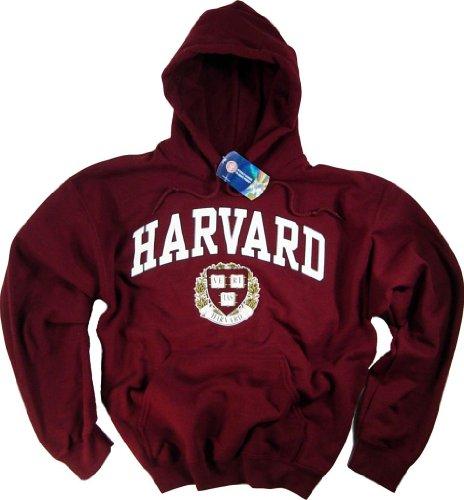 Shirt Hoodie Sweatshirt, Harvard-Universität, Business Law - Wirtschaftsrecht, Kleidung Gr. Large, purpurrot (Crewneck Lizenzierte Offiziell)