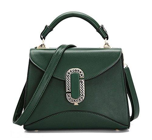 Xinmaoyuan Borse donna pu colore semplice sezione trasversale semplice fibbia piccola borsa tracolla messenger bag Mini Bag,rosso Verde