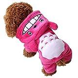 Mangotree Haustier Hunde Hoodie Mantel Winter Warmer Weicher Overall Komisch Totoro Cosplay Kostüm Feiertags Karnevals Neujahr Haustier Kleidung für Kleinen Hund und Katze