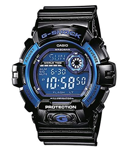 Casio G-Shock Quarz Digital Herren Uhr Schwarz Blau G-8900A-1ER (Blau G Casio Uhr Shock)