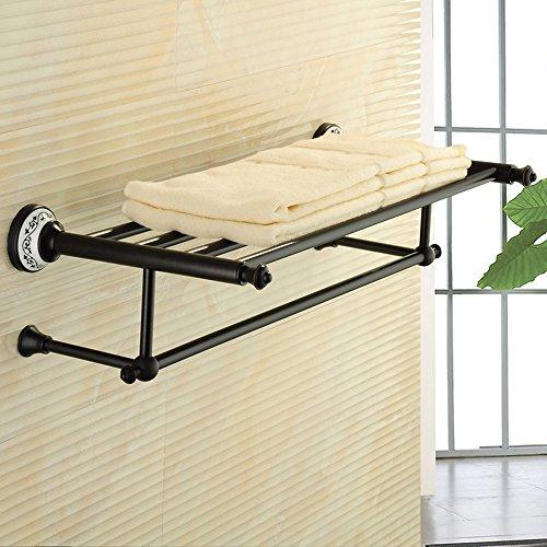 FUFU Barres de Serviette Porte-serviettes en bronze antique Porte-serviettes en bois Porte-serviettes en salle de bain (2 styles) (Couleur : 1002)
