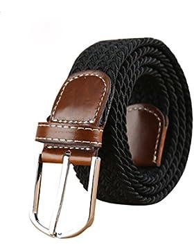 Mr.Van Para Hombre Elástico Cinturón, Unisex Hombres Mujeres Vintage Casual Tejido Elástico Tejido Trenzado Elástico...