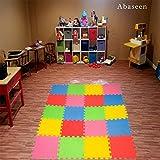 Abaseen emboîtables en mousse EVA Multicolore Tapis puzzle 30x 30cm pour chambre d'enfant/Zone de jeu
