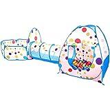 Kinder spielzelt mit Spielhaus Zelt, Krabbel Tunnel, Ball Pool für Drinnen und Draußen