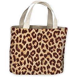 Piel Leopardo Diseño Tote Bolso De Compras Para Toda La Vida