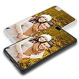 Personalisierte Premium Foto-Handyhülle für Huawei-Serie selbst gestalten mit Foto bedrucken, Hülle:TPU-Silikon / Schwarz Matt, Handymodell:Huawei P8 Lite