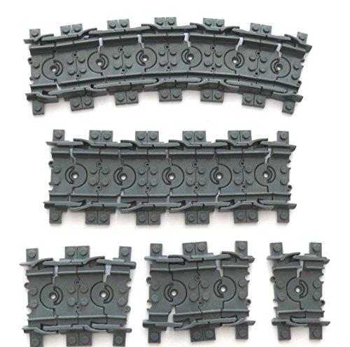 Preisvergleich Produktbild LEGO ® CITY - Eisenbahn RC - 16 Stück flexible Schienen Gleise 9 Volt - Flexgleise - entsprechen 2 ganzen Schienen