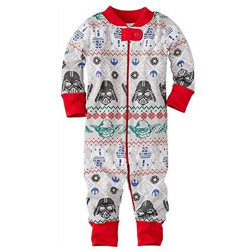 (Hzjundasi Familie Matching Weihnachten Pyjama Set Schlafanzüge - Xmas Lange Ärmel Drucken Tops und Hose Nachtwäsche für Familie)