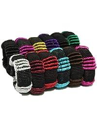 Shyam Hosiery Hair Rubber Bands -Multicolor Set Of 12 Pcs