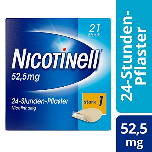 Nicotinell 52,5 mg / 24-Stunden-Nikotinpflaster, 21 St.: Pflasterstärke Stark (1) – Das Nicotinell Nikotinpflaster mit der Steady-Flow Technologie hilft, das Rauchverlangen für 24 Stunden zu lindern