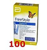 FREESTYLE OPTIUM - 100 Strisce Reattive per il Test della Glicemia - FREE STYLE