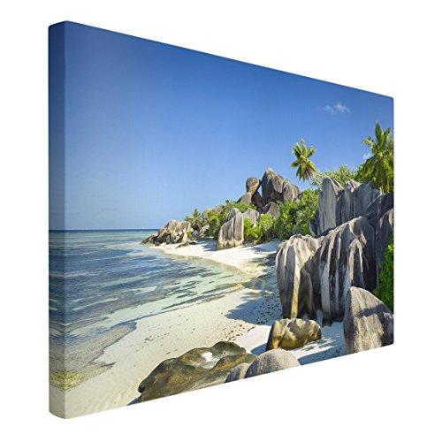 Bilderwelten Leinwandbild - Traumstrand Seychellen - Quer 2:3, 120cm x 180cm