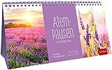 Atempausen für jeden Tag 2018: 3-teiliger Tischkalender mit Monatskalendarium