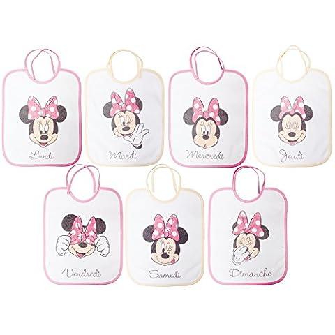 babyCalin Lot de 7 bavoirs naissance Minnie - 22x27