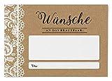 Ballonflugkarten zur Hochzeit 50 Stück, extra leichte Postkarten für langen Flug, Platz für Glückwünsche (Vintage Spitzen)