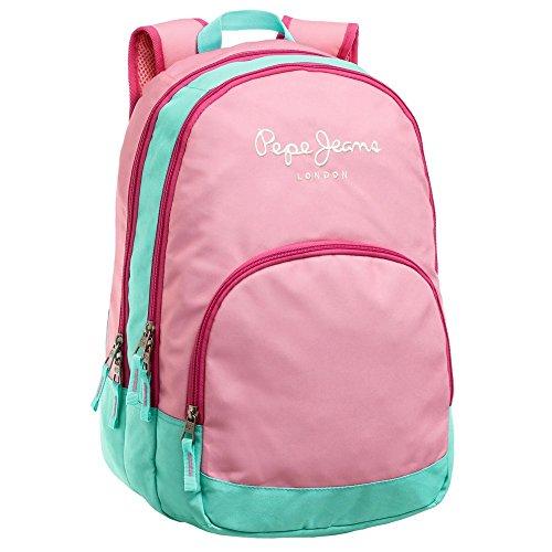 Pepe Jeans 6252451 Bicolor Mochila Escolar, 22.85 Litros, Color Rosa